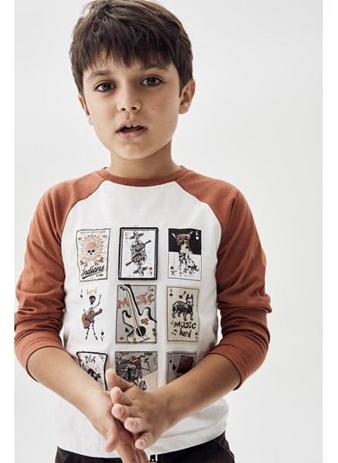 Nebbati Erkek Çocuk Ekru T-Shirt 20Fw0Nb3516 Ekru
